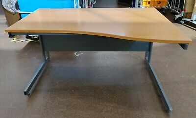 £49.99 • Buy Wavefront Desk (1200mm) Curved Right Hand Office Work FREE MANCHESTER DELIVERY