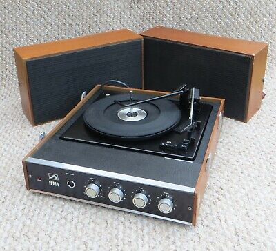 £115 • Buy Superb Hmv Stereo Vintage Record Player - Fully Serviced & Working