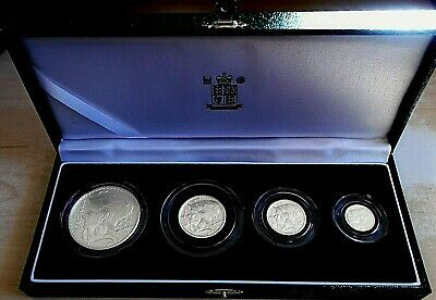 £83 • Buy 2003 Royal Mint Britannia 4 Coin Proof Set, 1.85 Tr Oz Pure Silver, Box And Cert