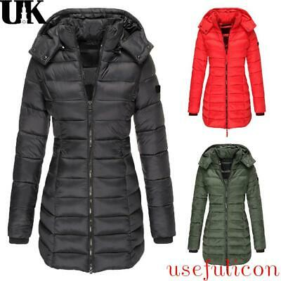 £26.99 • Buy Women's Winter Long Parka Quilted Coat Hooded Ladies Warm Padded Puffer Jacket