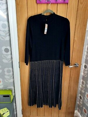 £7.50 • Buy Tu Sainsburys Black Fine Knitted Dress Size 20 New With Tags