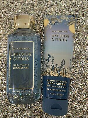 £20 • Buy Bath And Body Works Lakeside Citrus Shower Gel And Body Cream Set
