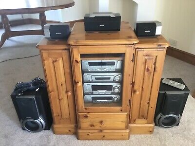 £220 • Buy Technics Stack System In Ducal Victoria Music Centre Cabinet. Eh750 Series.
