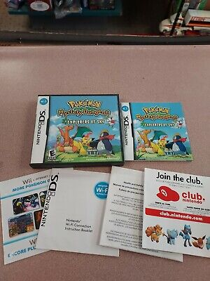 $35 • Buy CASE AND MANUAL ONLY. Pokemon Mystery Dungeon: Explorers Of Sky (DS, 2009)