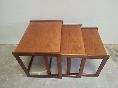 £120 • Buy G Plan Nest Of Tables Mid Century Retro Solid Teak DELIVERY