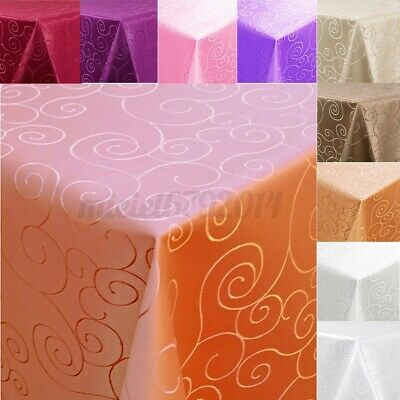 £6.16 • Buy Square Tablecloths Catering Table Cover Wedding Party Restaurant Banquet Decor