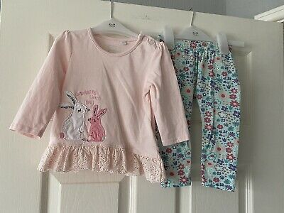 £1.99 • Buy Blue Zoo Baby Girls Outfit Top & Leggings Size 6-9m