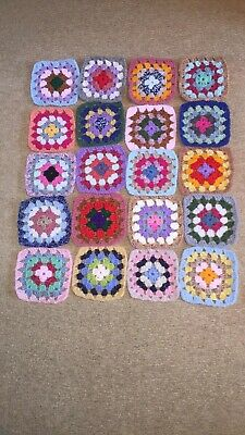 £8 • Buy 20 Ready Made Crochet Granny Squares Approx 5 Inch Square. Make Your Own Blanket