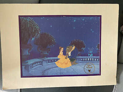 £10 • Buy Walt Disney Stores  Exclusive Commemorative Lithograph BEAUTY AND THE BEAST 1993