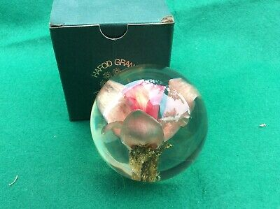£19.99 • Buy SMALL HAFOD GRANGE CAST RESIN ORCHIS PAPERWEIGHT 1999 7.5cm Cm  PERFECT