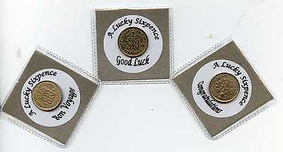 £1.96 • Buy Lucky Sixpence Wishing Good Luck, Congratulations Or Bon Voyage. Gift, Charm