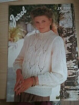 £0.99 • Buy Jarol Knitting Pattern No E325. Sweater With Cable Design. Aran. 30-40 Inch Bust