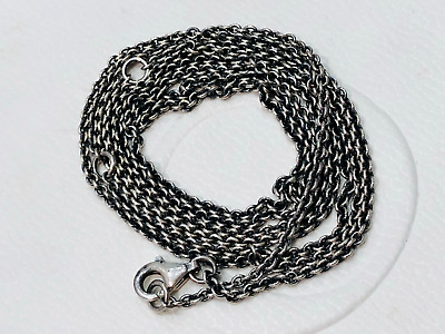 AU69 • Buy Authentic Pandora Sterling Silver OXIDISED Cable Chain Adjustable Necklace 80cm