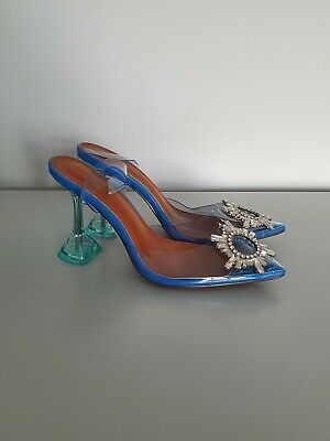 £20 • Buy Clear Rhinestone Sparkly Shoes High Heels