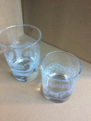 £5.95 • Buy Two  Baileys Etched Tumblers.....Heavy Base....Glass