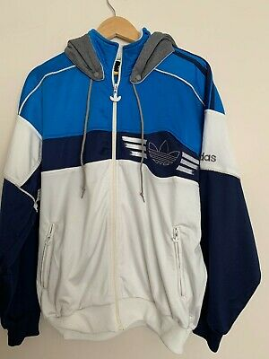 £11.50 • Buy Men's 80's Vintage Adidas Track Top Size Large With Detachable Hood