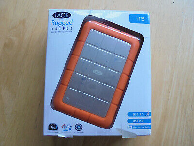 £22 • Buy Lacie Rugged Triple 1TB External Hard Drive With USB3 And Firewire 800 Ports