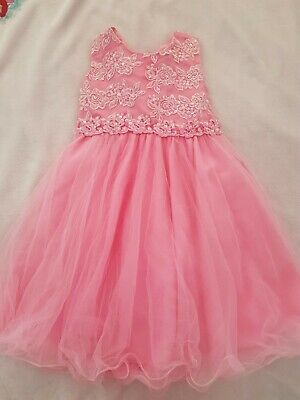 £10 • Buy Girls Pink Ball Party Formal Evening Dress 7-8