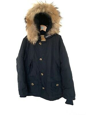 £29.99 • Buy Kids Woolrich Arctic Parka Black Hood 100% Down Insulated Water Repellent 13 Yrs