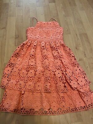 £9.99 • Buy River Island Girls Age 7 Party Dress Coral Wedding Party Stunning !