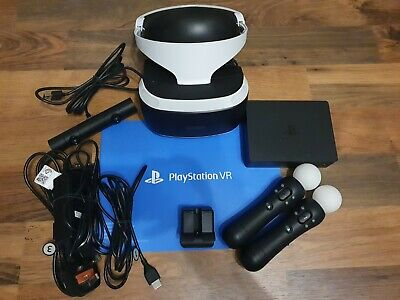 AU230.24 • Buy Sony PS4 VR V2 With 2x Move Controllers & PS Camera. Excellent Condition.
