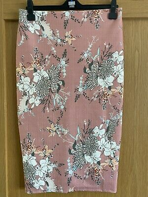 £3.99 • Buy River Island Floral Skirt Nude Size 10