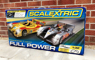 £0.99 • Buy SCALEXTRIC FULL POWER Rare Le Mans DHL Porsche RS Spyder Audi R10 PWO Immaculate