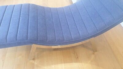 £195 • Buy Comfortable Pair Of Blue Chaise Lounge Chair For Bedroom, Study Or Living Room