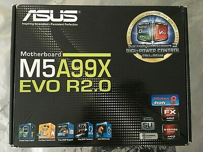£89.95 • Buy ASUS M5A99X EVO R2.0 SOCKET AM3 / AM3+ MOTHERBOARD -SUPPORTS FX-9590 CPUs