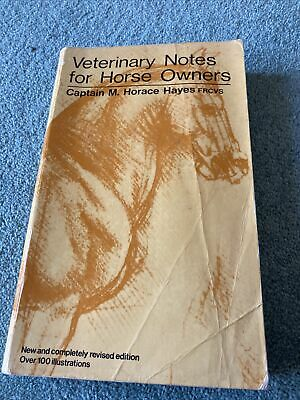 £1 • Buy Veterinary Notes For Horse Owners Book - Captain M. Horace Hayes