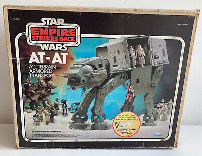£199.99 • Buy Vintage Star Wars Kenner (1982) ESB AT-AT Walker Working With Box & Instructions