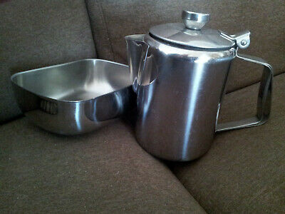 £7 • Buy Stainless Steel Teapot , Home Office Catering Pot Plus Bowl Tray
