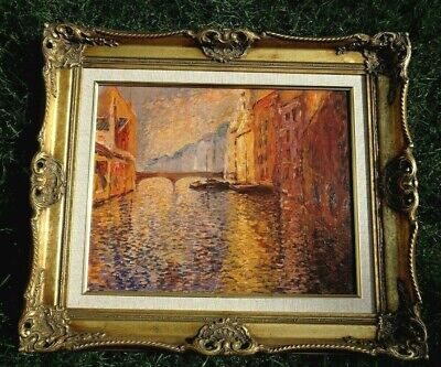 £325 • Buy A Signed FRENCH IMPRESSONIST OIL PAINTING By Paul Flaubert 1928-1994, GILT/GESSO