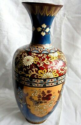 £135 • Buy Antique Japanese Quality Victorian Cloisonne Vase.  Large 9  1/2  Inches High.