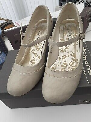 £10 • Buy  Liberta  Size 5 Ladies Stone Coloured Suede Heeled Shoes