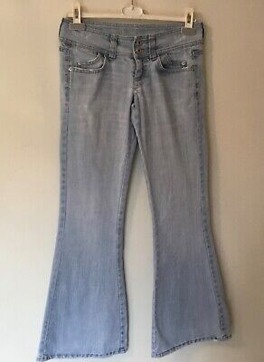 £6 • Buy Vintage,y2k,topshop,moto,stonewashed,hipster Flare Jeans/trousers-sz 28-8-10