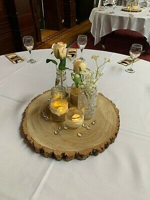 £160 • Buy 8 XXL Natural Wood Log Slices - Rustic Table Centerpiece,  Cake Stand, Etc.