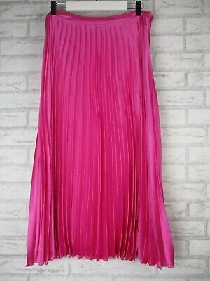AU15 • Buy ASOS UK 14, AU 12 Pink Womans Pleated Skirt Womens A-line