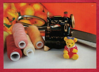 £1.46 • Buy Composition Needlework. Small Sewing Machine And Teddy Bear , Modern Postcard