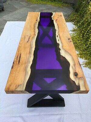 £350 • Buy Unique Original Handmade Coffee Table In Resin And Yew Solid Wood