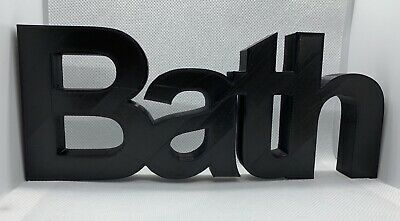 £9.99 • Buy  Bath  Word Ornament In Arial Font - 7x19.5x1.5cm - Various Colours