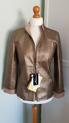 £19.99 • Buy Centigrade QVC Gold/Light Brown Suede Leather Reversible Jacket Size S Small
