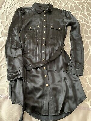 AU35 • Buy Forever New- Satin Shirt Dress Size 4 (will Fit 6)