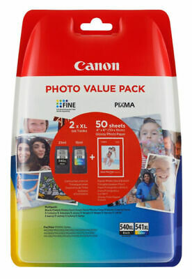 £16.20 • Buy Canon PG-540XL/CL-541XL High Yield Ink Cartridge + Photo Paper Value Pack