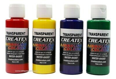 £11.95 • Buy Createx Airbrush Colors Paint 4 Color Primary Set