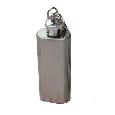 £3.95 • Buy Mini Hip Flask Wine Alcohol Flagon Stainless Steel 2oz AG24 Mosunx With Keychain