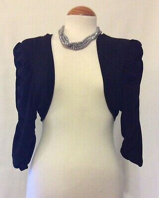 £4.99 • Buy Debut Black Occasion Wear Ruched Sleeve Shrug- Used Immaculate - Size XL