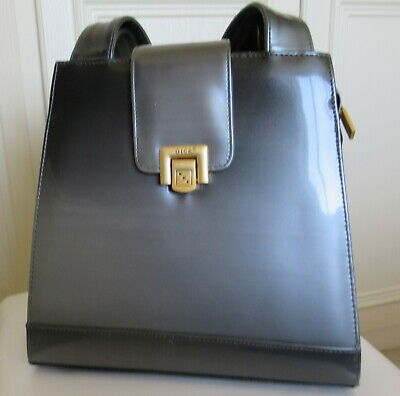 £10 • Buy Graduated Grey Faux Leather Bag With 2 Handles - Dice