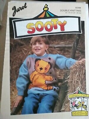 £0.99 • Buy Jarol Intarsia Sooty Sweater Knitting Pattern CC104. Double Knit. 24-36  Chest