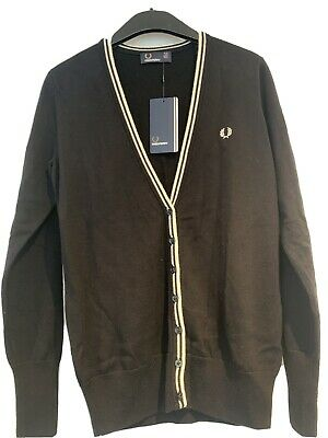 £38 • Buy Fred Perry Black Cardigan Size 10
